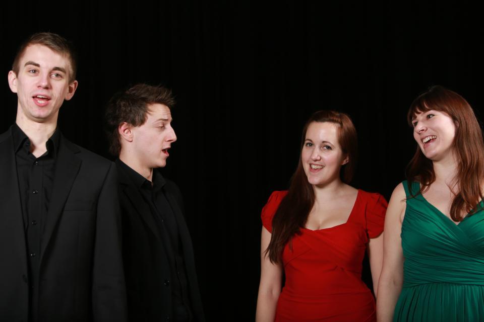 Trinity Laban publicity shoot, with Lewis Raines, Flore Philis and Erika Jones (February 2013). Image: James Keates